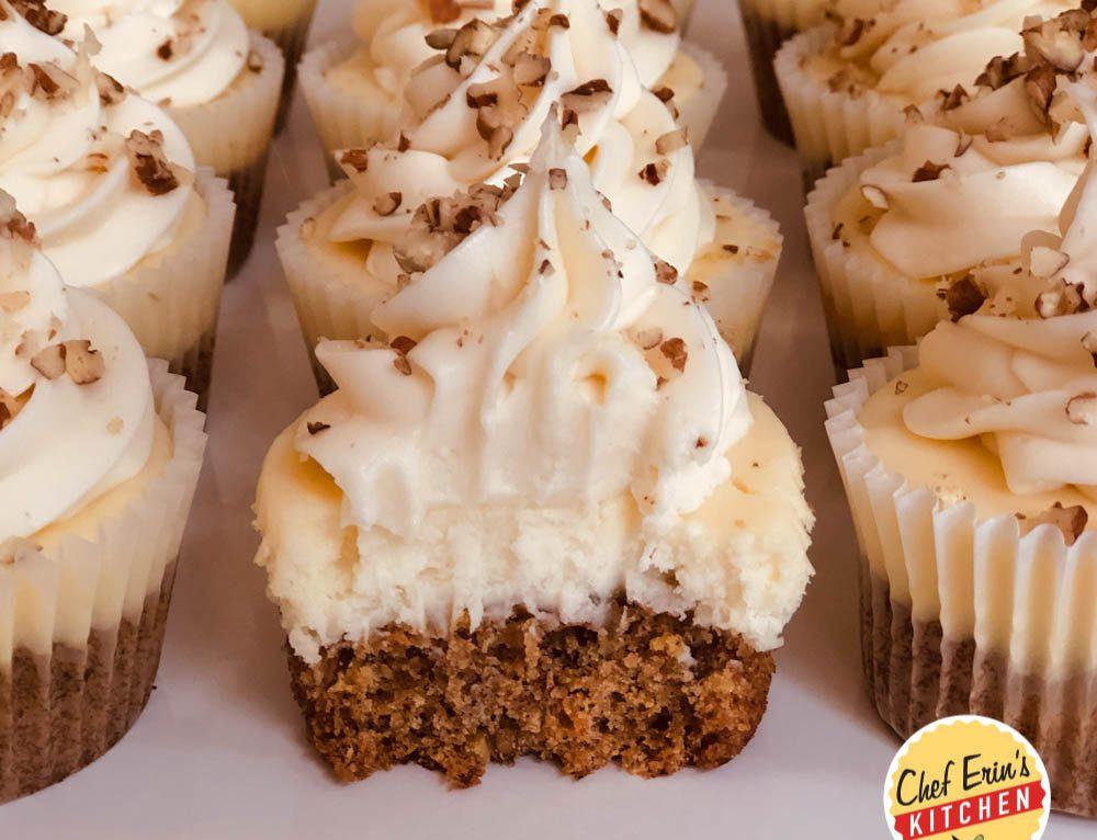Carrot Cake Cheesecake Cookie Tarts