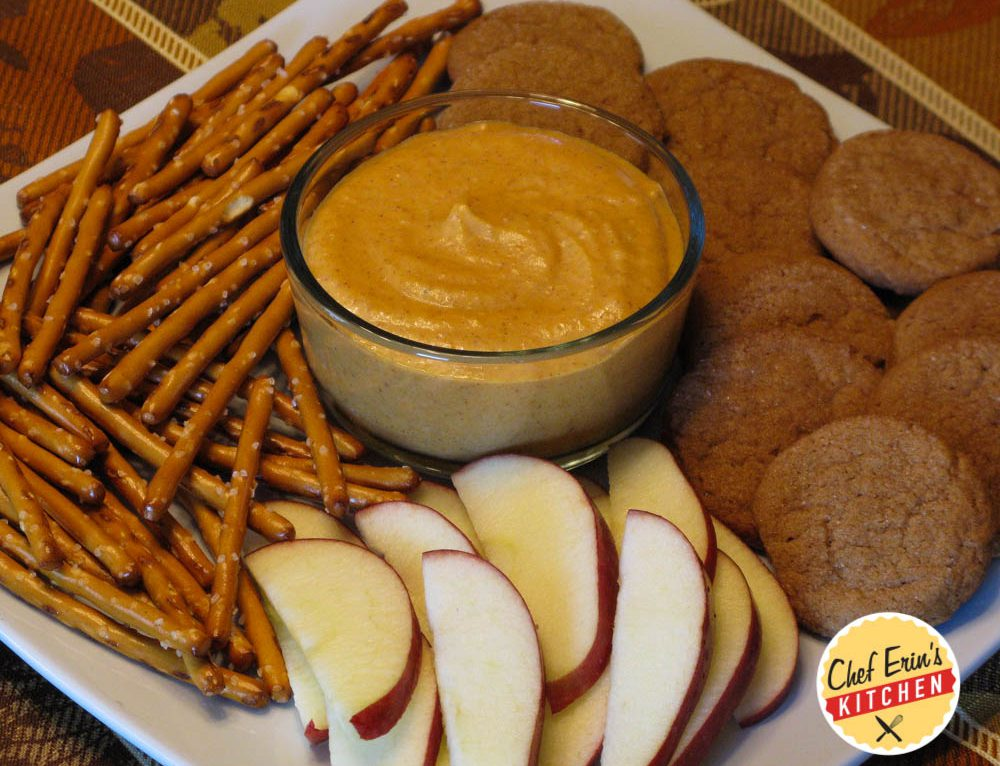 Pumpkin Pie Dip with Soft and Chewy Gingerbread Cookies
