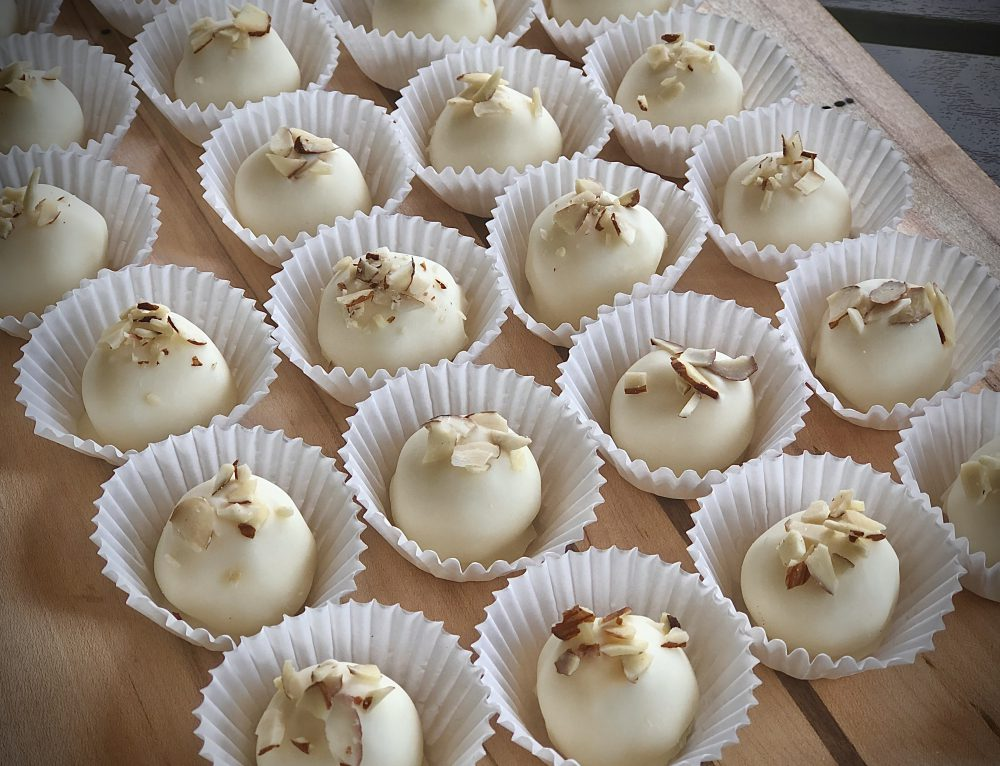 White Chocolate Amaretto Truffles