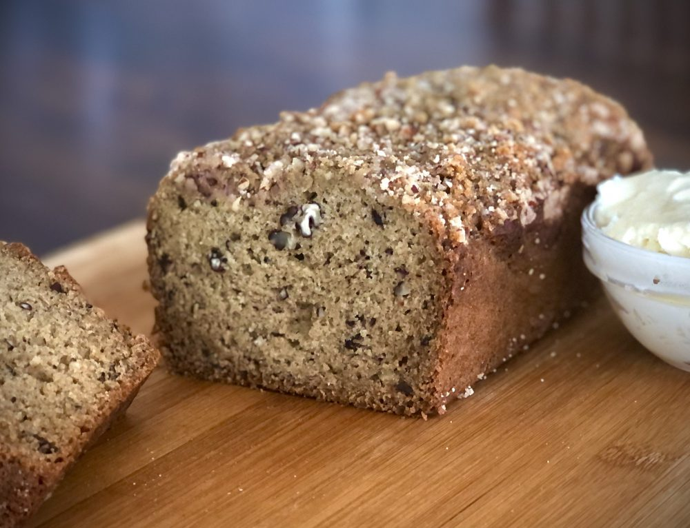 Banana Nut Bread with Honey Butter