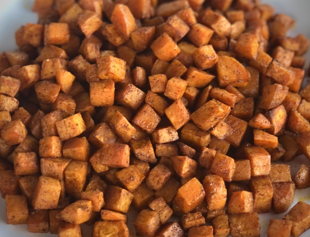 Roasted Chipotle & Cinnamon Sweet Potatoes